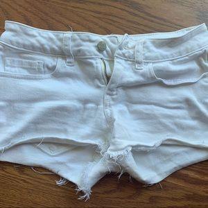 VS PINK White Denim Shorts